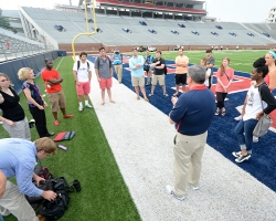 The University hosted an Emergency Training Drill.  The purpose for the exercise is to give the university, city, and county officials an opportunity to rehearse their response plans in the event of an emergency.  Photo by Kevin Bain/Ole Miss Communications