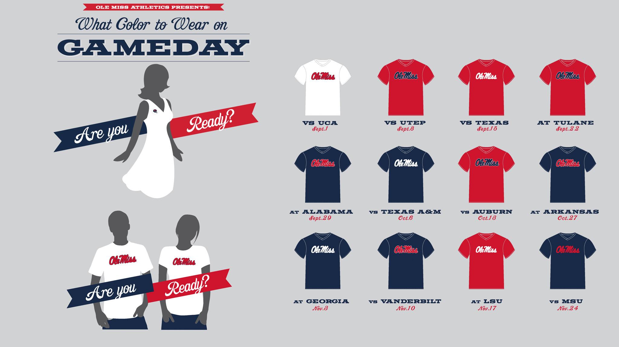 Ole miss gameday colors 2015 - White