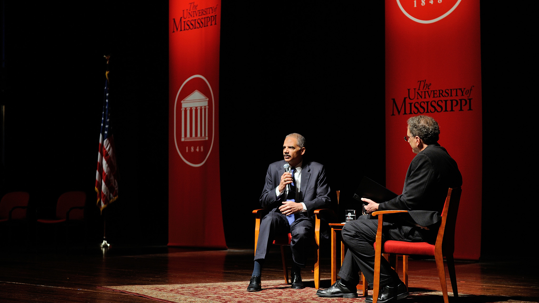 U.S. Attorney General Eric Holder speaks at the 2012 Honors College Convocation