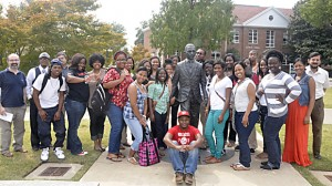 Tougaloo College Students Visit University of Mississippi Campus