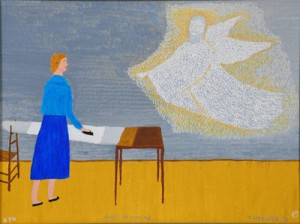"Theora Hamblett's ""Angel's Request #2"" is from the Dreams and Visions collection at the University of Mississippi Museum."