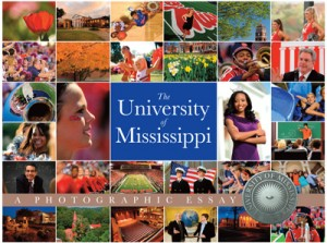 Mock-up cover for a new photo book showcasing the beauty of the University of Mississippi.