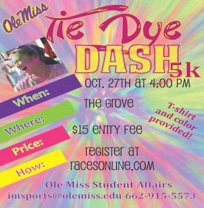 Student Affairs Hosting Tie-Dye Dash this Weekend