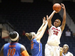 Ole Miss Women's Basketball vs Florida on Sunday, February 2nd, 2014 at the C.M. Tad Smith Coliseum in Oxford, MS.