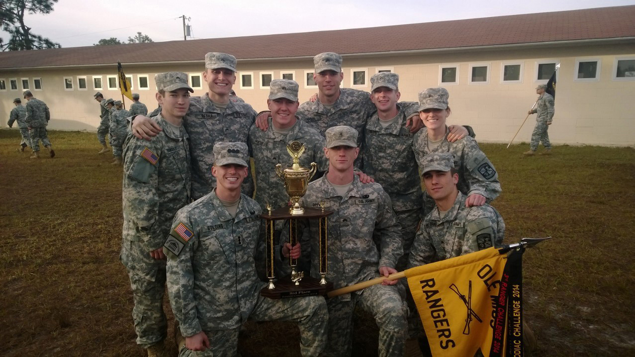 um army rotc cadets nail  place  sec ranger challenge ole  news