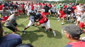 Photos from practice on Tuesday, August 6th, 2013 at the practice fields in Oxford, MS.