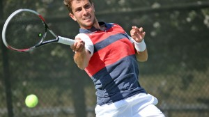 Ole Miss Men's Tennis vs Texas A&M on Friday, April 11th, 2014 at the Palmer/Salloum Tennis Center in Oxford, MS.