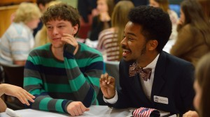 UM freshman Kaypounyers Maye (right) of Gulfport and MSU freshman Jordan White (left) of Starkville are members of the first class of the Mississippi Excellence in Teaching Program.