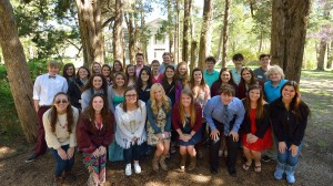 Fellows from the first class of the Mississippi Excellence in Teaching Program gathered at UM in April where they toured Rowan Oak, the historic home of novelist William Faulkner, among other activities.