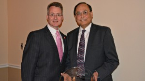 Pharmacy dean David D. Allen (left) and Syed Abidi