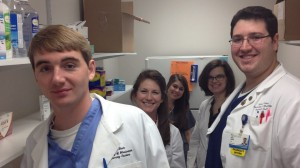 Pharmacy students, faculty and residents volunteered at the Jackson Free Clinic every Saturday in February.