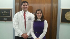 Stephen Lirette and Constance Payne, UM pharmacy alumna and legislative assistant to Sen. Thad Cochran.