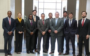 Members of the 14th-ranked Ole Miss Law Moot Court program.