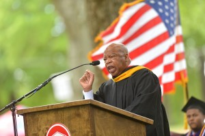 U.S. Rep John Lewis (D-Ga.) spoke to UM School of Law graduates during the school's commencement ceremony Saturday in the Grove.