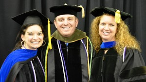 The School of Pharmacy's new Distinguished Teaching Scholars are (from left) Erin Holmes, Daniel Riche and Kristine Willett.