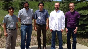 From left to right: Ukesh Koju, Josh Gladden, Vahid Naderyan, Garth Frazier, Greg Lyons
