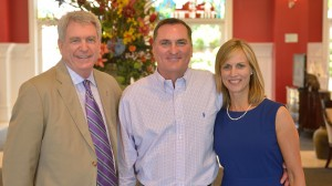John and Mary Thomas with Chancellor Dan Jones.