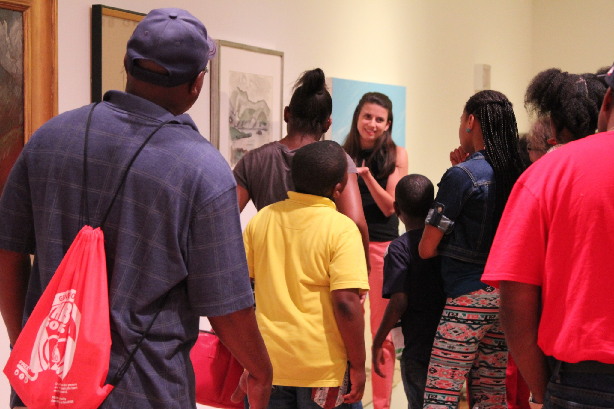 A group from the Boys and Girls Club of North Mississippi tours the University Museum.