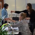 Guests check in at the ICSB regulatory meeting held at the Oxford Conference Center in April.
