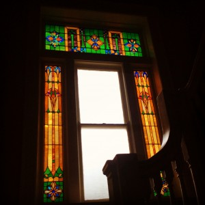 Bryant Hall is also home to beautiful stained glass windows. Photo by Michael Newsom