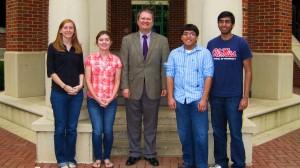 From left: Ariel Dauzart, Kathy Millar, Dr. John Kiss, Logan Williams, Neel Patel.