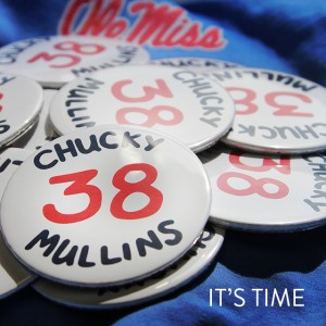 20,000 commemorative Chucky Mullins' buttons will be given out prior to the Ole Miss vs. Memphis football game on Saturday, Sept. 27.