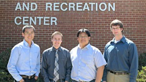 New HERSM faculty members from left to right: Kofan Lee, Paul Loprinzi, Yang-Chieh Fu and Jeremy Loenneke.