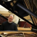 American pianist Garrick Ohlsson plays during rehearsal at Warsaw Philharmonic