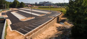 New commuter lot located at Jeanette Phillips Drive.
