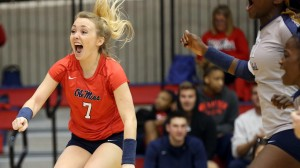 Ole Miss Volleyball vs South Carolina on October 20th, 2013 at the Gillom Sports Center