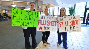 Last year, pharmacy students immunized more than 305 people on campus.