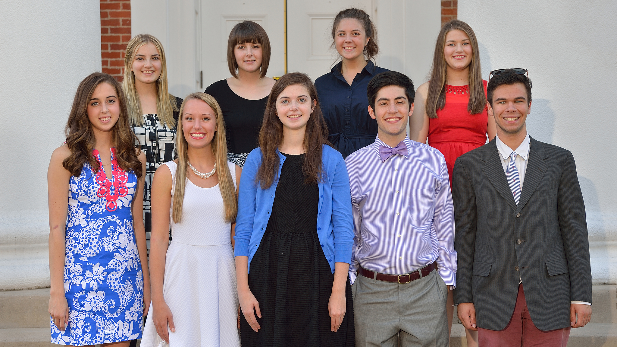 ten um freshman awarded prestigious honors college scholarships bottom row l to r megan mcleod sidney scott kellie shannon