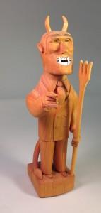 SultonRodgers' devil wood carved figurine.