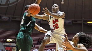 """Ole Miss Basketball vs Mississippi Valley State on November 22nd, 2013 at the C.M. """"Tad"""" Smith Coliseum in Oxford, MS."""