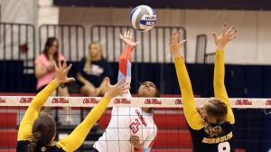 Ole Miss Volleyball vs Missouri on October 1st, 2014 at the Gillom Sports Center in Oxford, MS.
