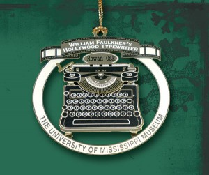 The University Museum unveiled its annual ornament, this year featuring a design of William Faulkner's typewriter.
