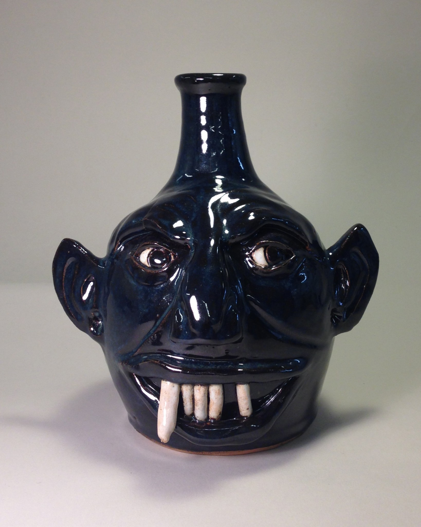 """Peppertown Pottery """"Snaggletooth Jug"""""""