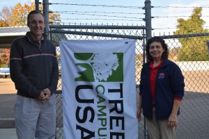 Jeff McManus and Denise Hill worked for the past year to apply for Tree Campus USA status.