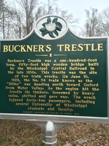 Buckner's Trestle marker