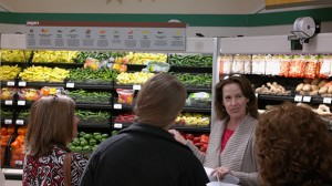 Janie Cole gives a tour of a local grocery store.