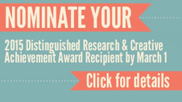 Distinguished Researcher Nominations Due
