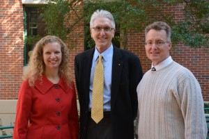 Kristine Willett (left), William Benson and David D. Allen