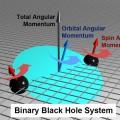 Black hole precessing model (created by Prof. Midori Kitagawa).