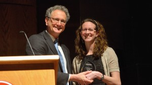 Kate Lindsay receives her Barksdale Award.