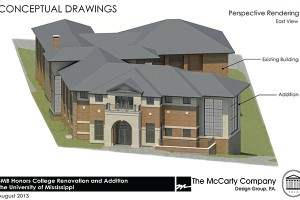 New addition to Sally McDonnell Barksdale Honors College is expected to be completed by December 2015.
