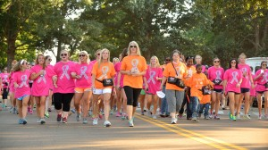ole miss university of mississippi panhellenic donates community breast cancer CARE walk lady rebs basketball check baptist memorial hospital $40k greeklife