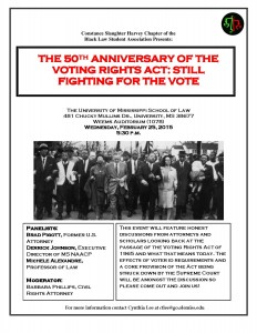 50th Anniversary of the Voting Rights Act: Still Fighting for the Vote