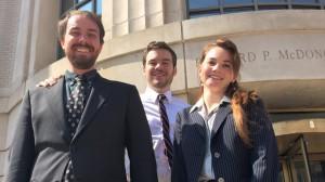 Ian Perry (left), C.J. Robinson, and Olivia Hoff