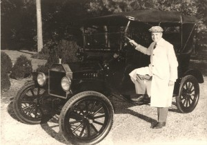 Arch Dalrymple III and the Model T Ford he drove to Ole Miss as a student.
