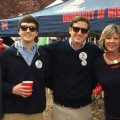 Fenton (left), Harrison, Rush, Jane and Stephen Kottkamp gather in one of their favorite spots, the Grove at the University of Mississippi. Fenton Kottkamp's spirit will live on at Ole Miss, where a scholarship has been created in his memory. His parents will accept his diploma at the May 9 Commencement. Courtesy photo.